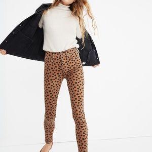 NWT Madewell 10 High-Rise Skinny Jeans Leopard Dot
